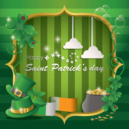 patrick's: st patricks day card Illustration