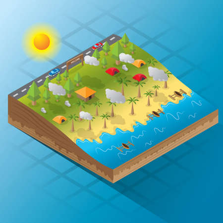 threedimensional: three-dimensional landscape layout