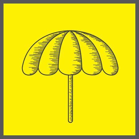 sunshade: umbrella Illustration
