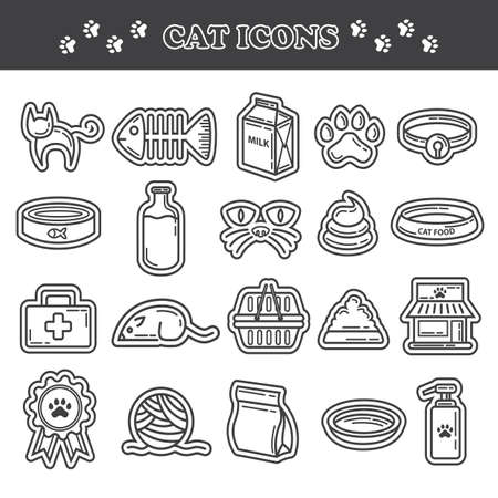 woollen: collection of cat icons