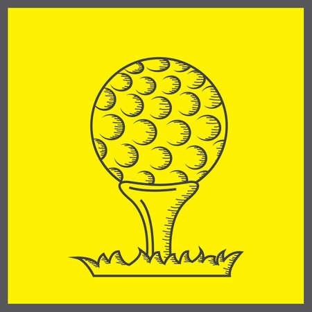 tee: golf ball on tee