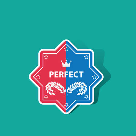 laurel leaf: perfect sticker Illustration