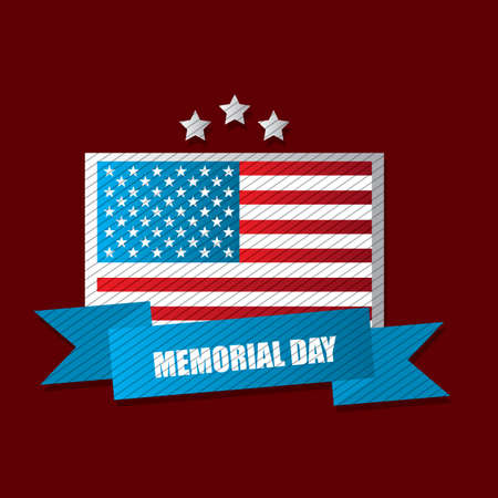 distinction: memorial day label Illustration