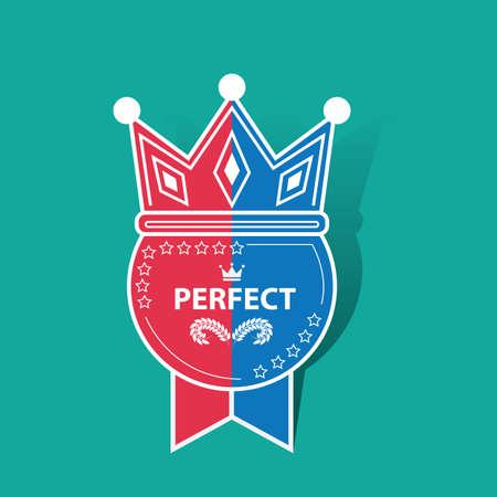 perfect: perfect award ribbon Illustration
