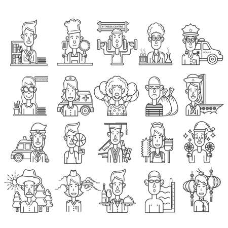 collection of people in different professions