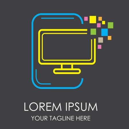 led: led monitor icon Illustration