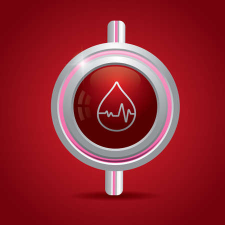 sine wave: blood drop with pulse