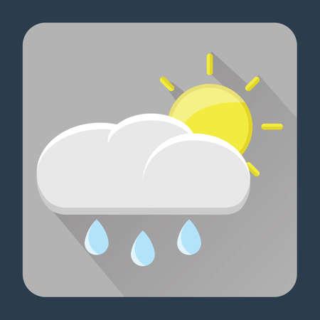raining: sun and raining cloud Illustration