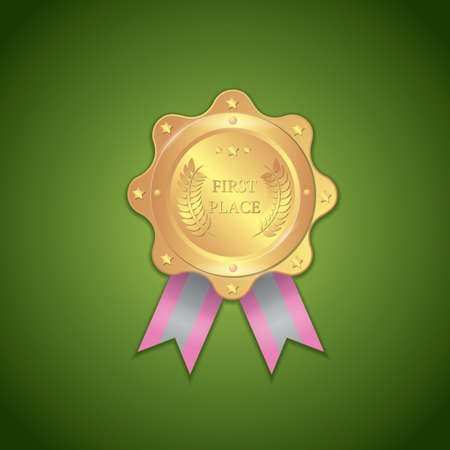 first place: first place award badge