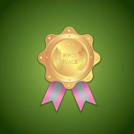 primer lugar: primer premio de placas Vectores