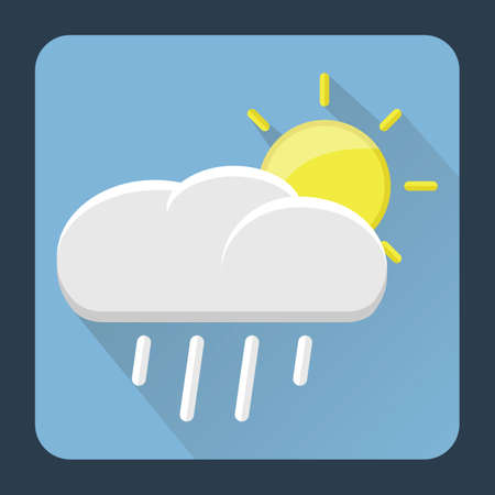 raining: raining cloud with sun