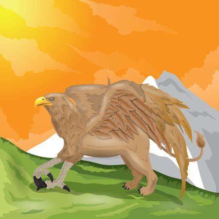 mountain lions: eagle with lion body