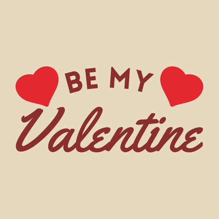 be: be my valentine card