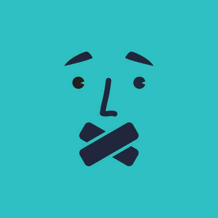 silent: silent face emoticon