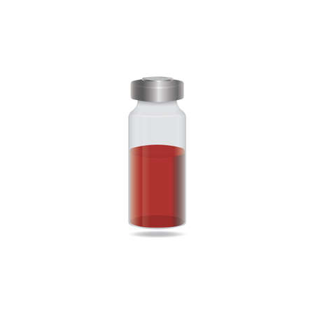 blood in medical vial Illustration