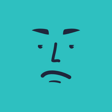 irritated: sad face emoticon