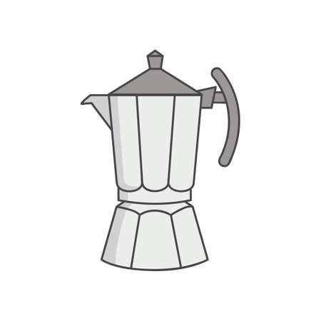 with coffee maker: stove coffee maker Illustration