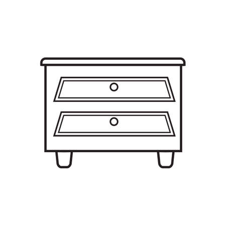 side table: side table with drawer Illustration