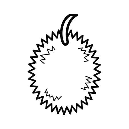 flesh: durian Illustration