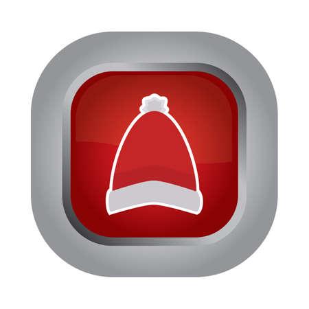 woolen: woolen cap button Illustration