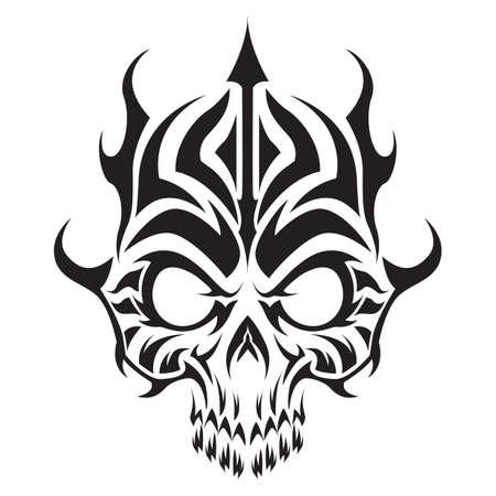 tatuaje del cráneo