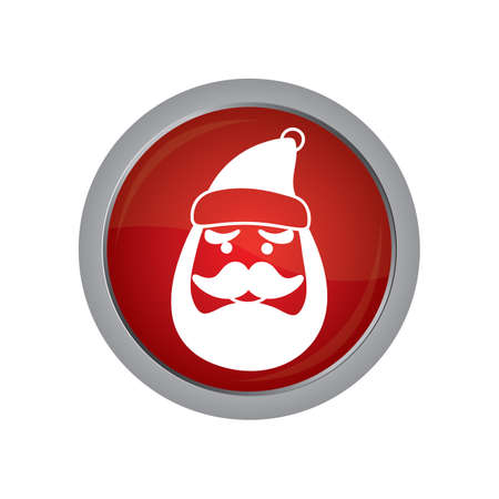 clause: santa clause face button
