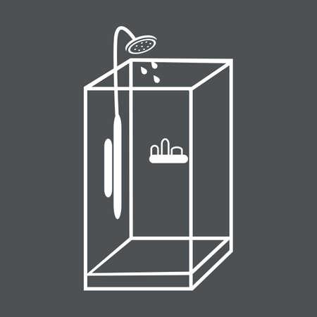 cabine de douche: verre cabine de douche