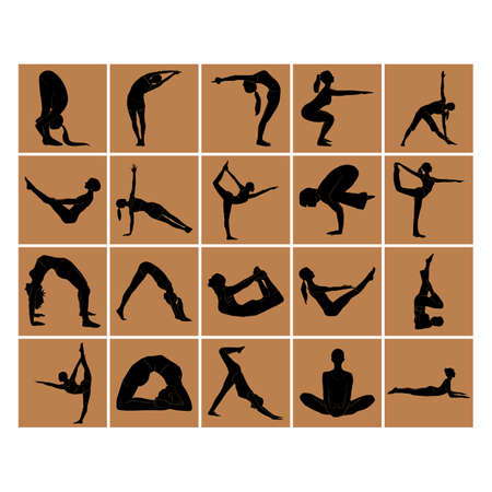 baddha: yoga poses Illustration