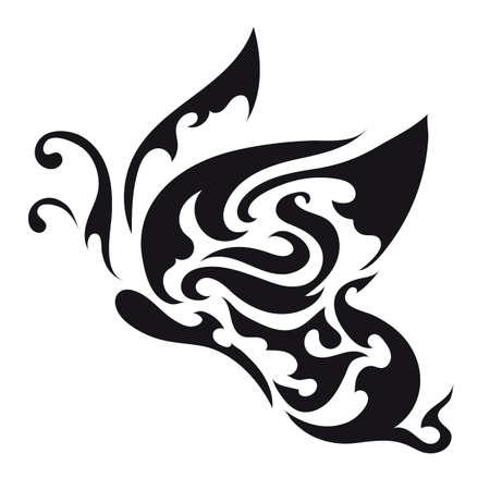 Conception de tatouage de papillon Banque d'images - 52931963