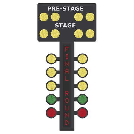 race track lights