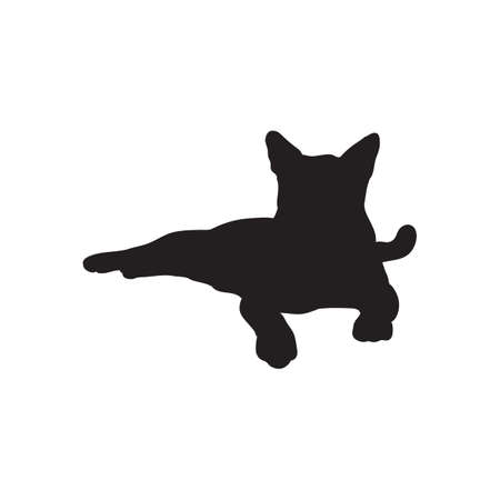 feline: silhouette of a cat Illustration