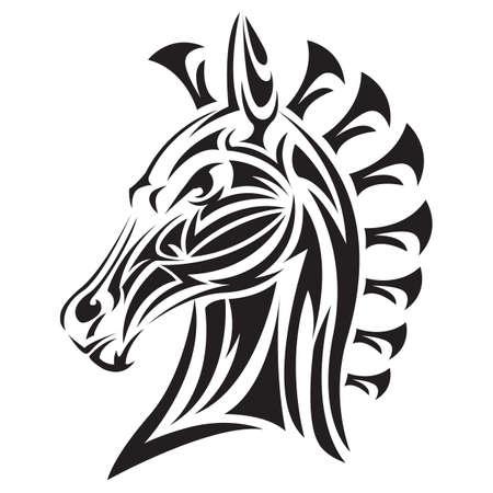 Cheval tatouage Banque d'images - 52932159