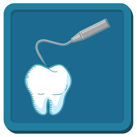 periodontal: tooth with dental probe