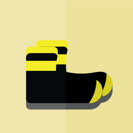 safety shoes: firefighter shoes Illustration