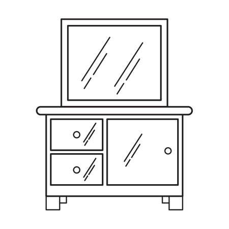 storage: storage cabinet with mirror Illustration