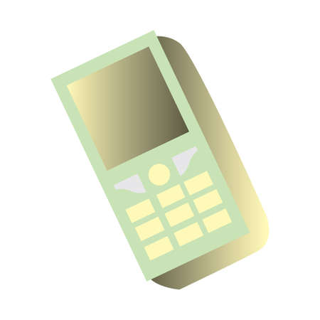old cell phone: old mobile phone Illustration