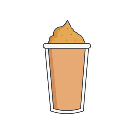 whipped cream: cold coffee with whipped cream Illustration