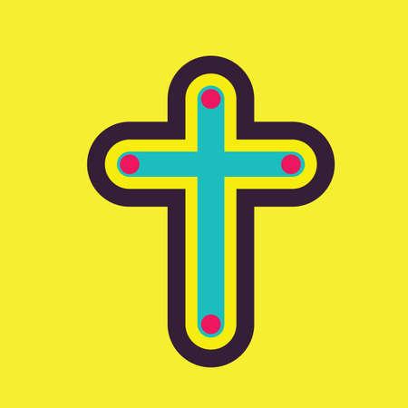 religious celebration: cross Illustration