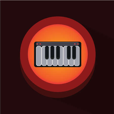 synthesiser: piano keyboard