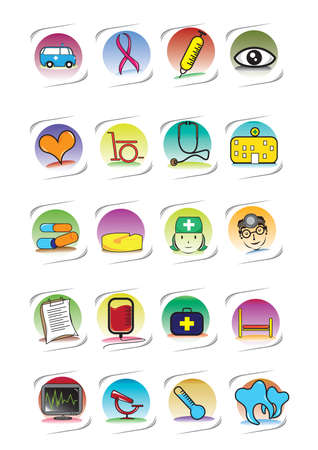 Reihe von medizinischen icons