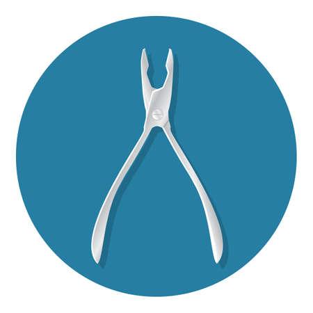 歯科用ペンチ  イラスト・ベクター素材