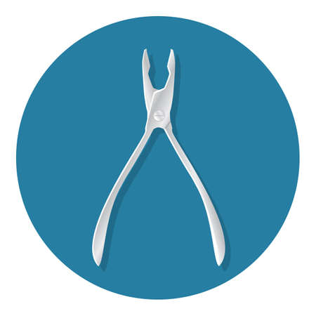 dental pliers 向量圖像