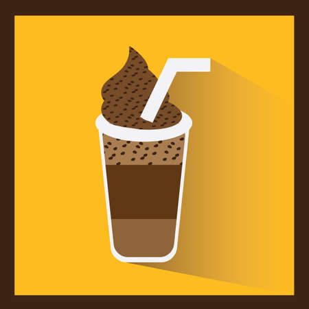 blended: ice blended coffee Illustration