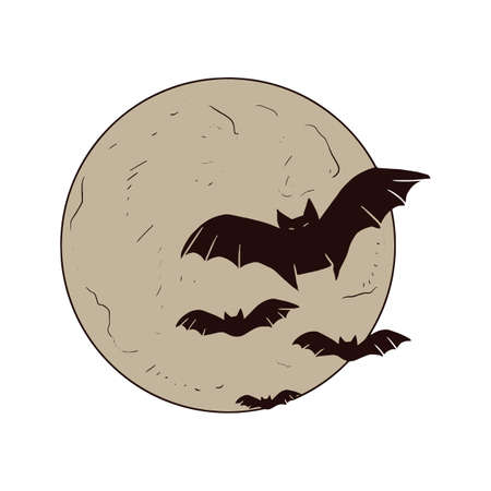 moon: bats with moon background