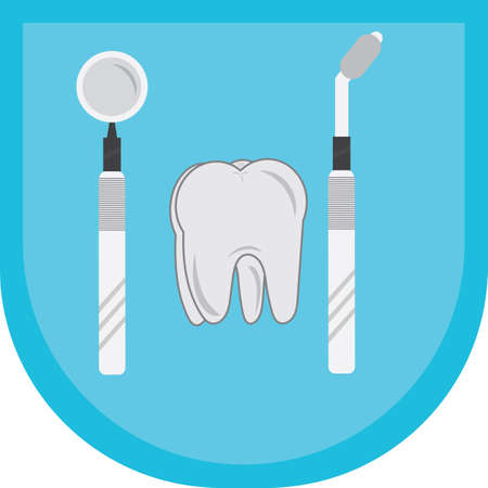 inspect: tooth with some dental equipment