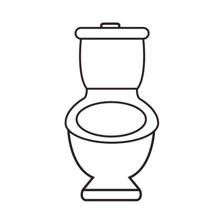 seating: toilet bowl Illustration