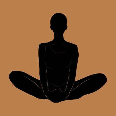baddha: bound angle pose Illustration