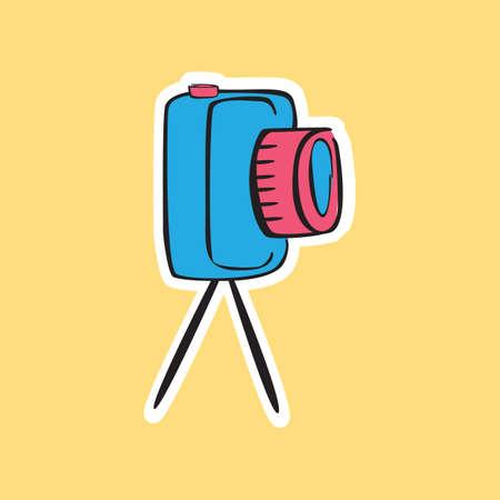 snapshots: camera on a tripod
