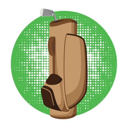 golf bag: golf bag with club