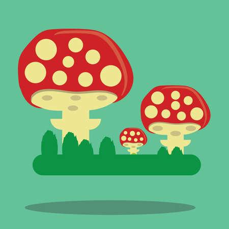 mushrooms Иллюстрация